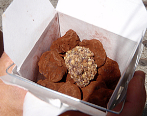 Delicious hand-shaped truffles from XOX