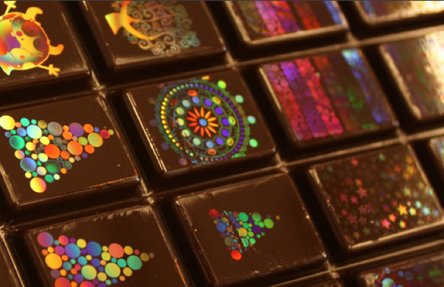 holographic chocolates