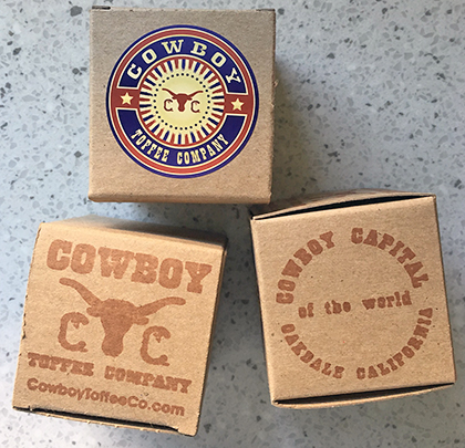 Cowboy Toffee boxes